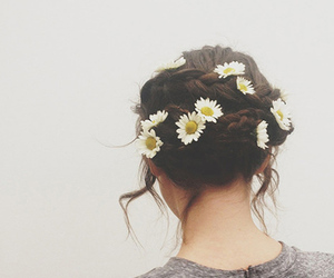 beauty, brown hair, and hipster image