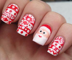 nails, christmas, and santa image