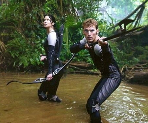 catching fire, katniss everdeen, and finnick odair image