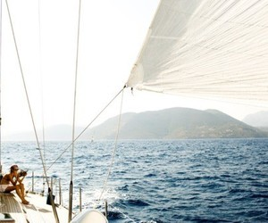 boat, freedom, and sailing image