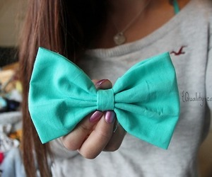 blue, bow, and hollister image