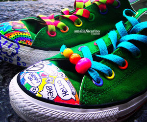 shoes, all star, and colors image