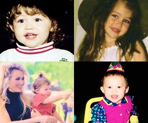 miley cyrus and baby image