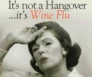 flu, hangover, and wine image