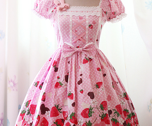 lace, pink, and dress image