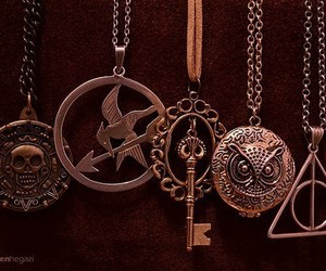harry potter, necklace, and owl image