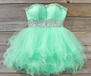 dress, green, and clothes image