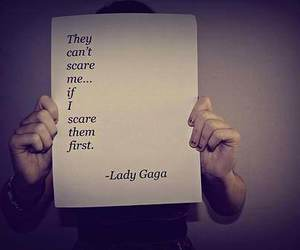 quote, Lady gaga, and scare image