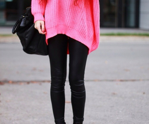 black, pink, and simple image