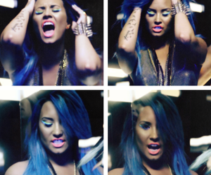 demi lovato and neon lights image