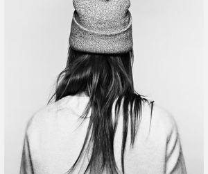 beanie, girl, and hair image
