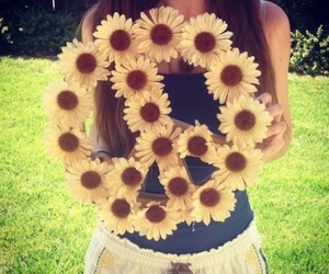 summer, flowers, and peace image