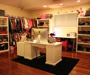 closet, walk-in, and clothes image