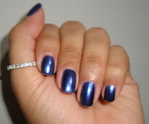 blue, metallic, and nailpolish image