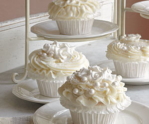 cupcake, wedding, and white image