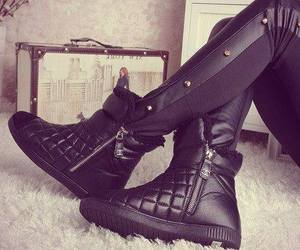 black, shoes, and chanel image