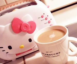 hello kitty, cute, and coffee image