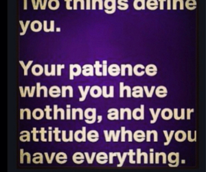 patience and attidude image