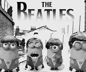 minions, thebeatles, and love image