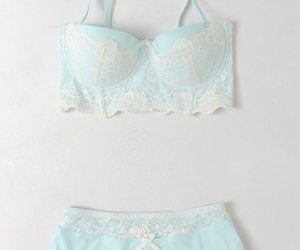 lingerie, underwear, and blue image