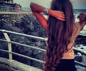 hair, girl, and long hair image