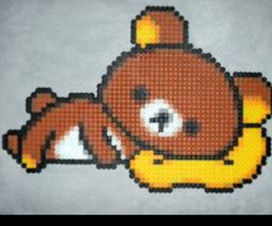 rilakkuma, perler beads, and cute image