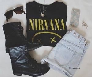 fashion, nirvana, and boots image