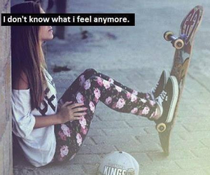 feelings, feel, and skateboard image