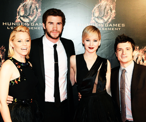 josh hutcherson, catching fire, and Jennifer Lawrence image