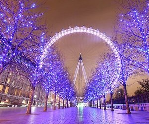 light, london, and christmas image