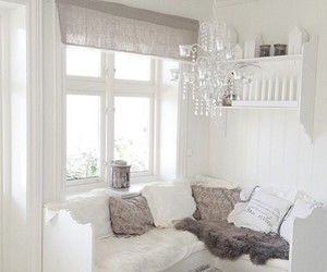 white, interior, and brown image