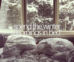 bed, morning, and winter image