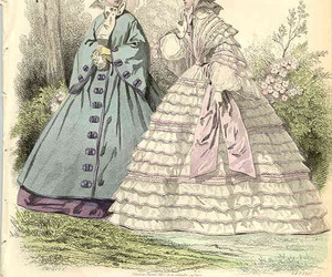 illustration, vintage, and 1800s image