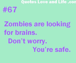 funny, zombies, and quote image