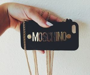 Moschino, iphone, and gold image