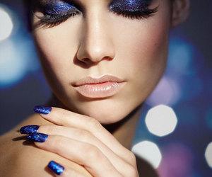 blue, eyeshadow, and eyes image