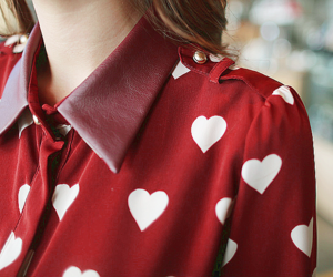 fashion, red, and heart image