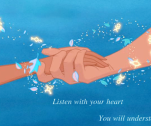 disney, hands, and heart image