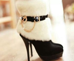 boots, high heels, and winter image
