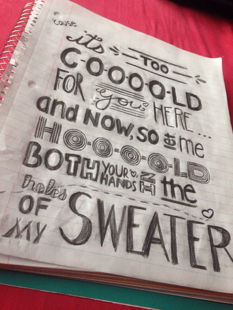Sweater Weather Lyric Art Discovered By Candy