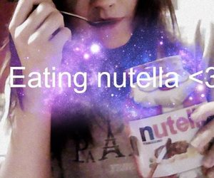 eating, nutella, and time image