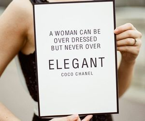 chanel, elegant, and quote image