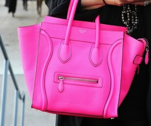 pink, bag, and celine image