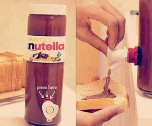 hungry, love, and nutella image