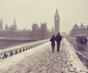 love, london, and snow image