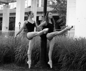 ballerina, black and white, and photography image