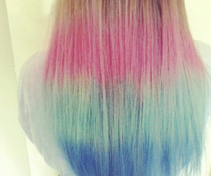 pink blue ombre hair image