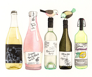bird, drink, and bottle image