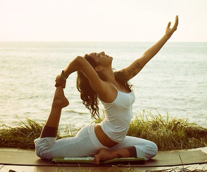 yoga, healthy, and fitness image