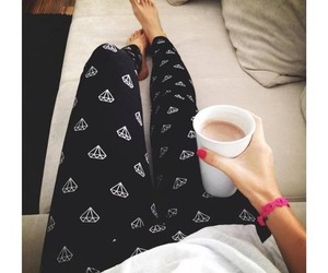 diamond, coffee, and leggings image